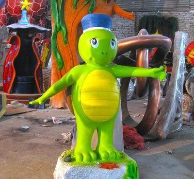 【玻璃钢乌龟 雕塑卡通儿童公园动物摆件户外